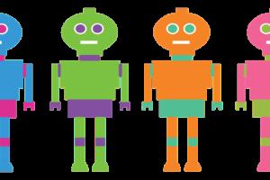 Das Spiel verrückte Roboter