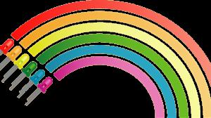 Regenbogen auf Papier