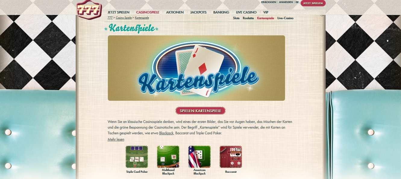 777 online Kartenspiele