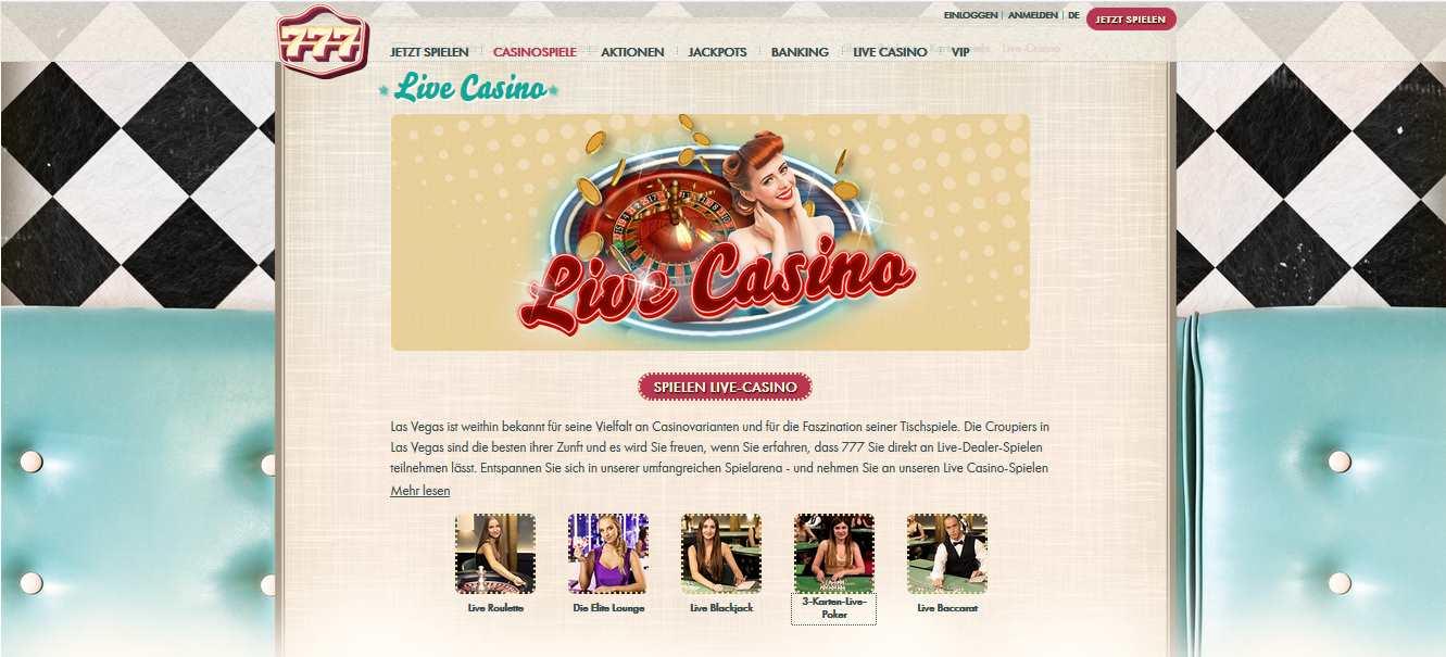 777 online Live Casino