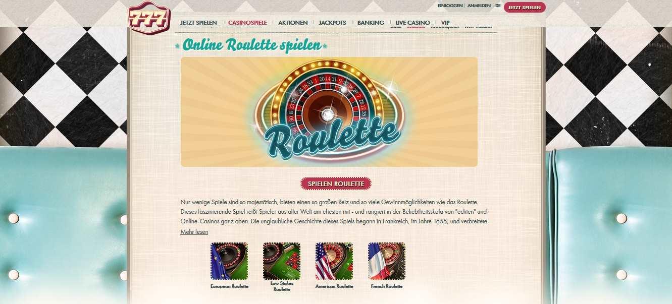 777 online Roulette