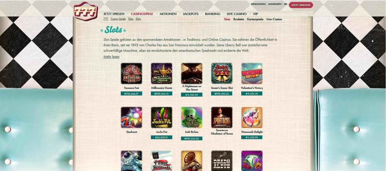 777 online casino slots