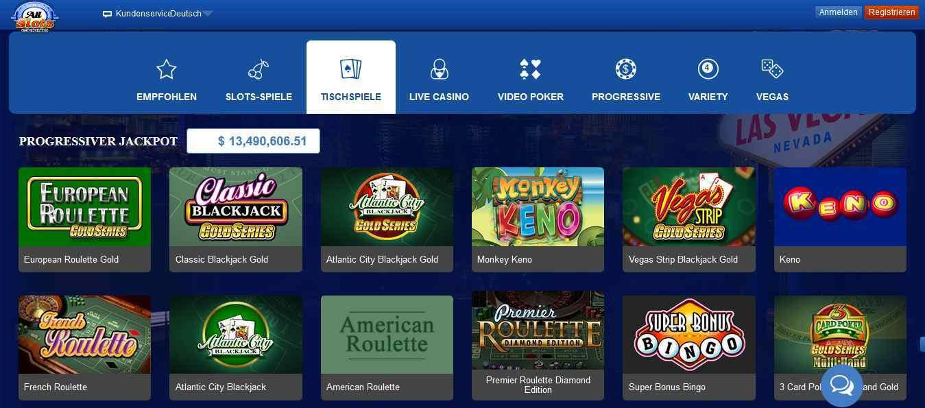 All Slots Casino Tischspiele