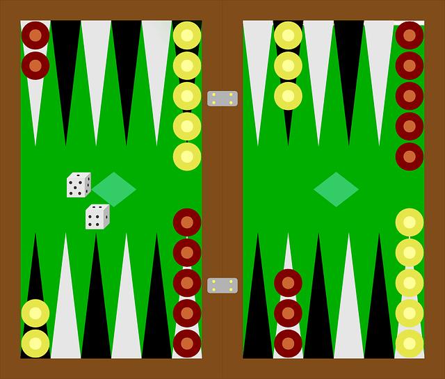 Backgammon aufbau
