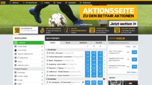 Betfair Webseite