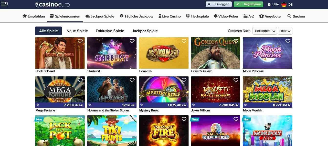 CasinoEuro Casinospiele