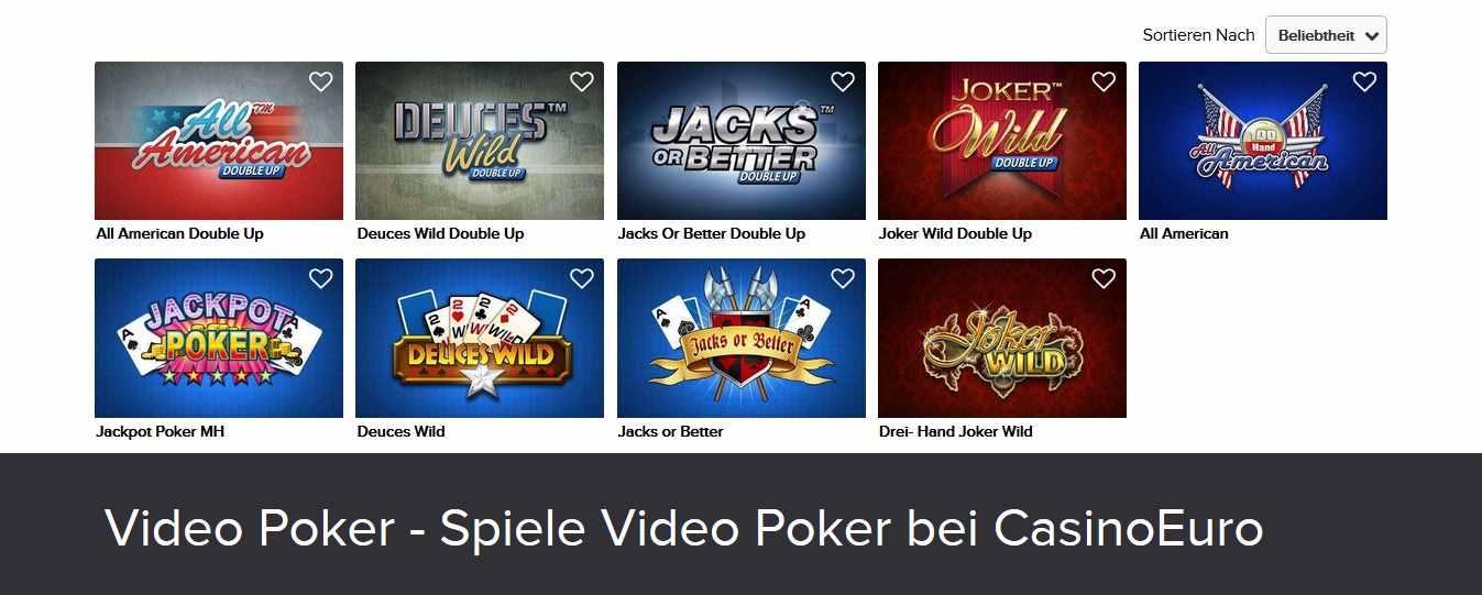 CasinoEuro Videopoker
