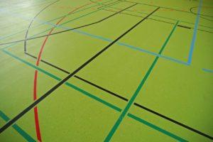 Das Spielfeld beim Handball
