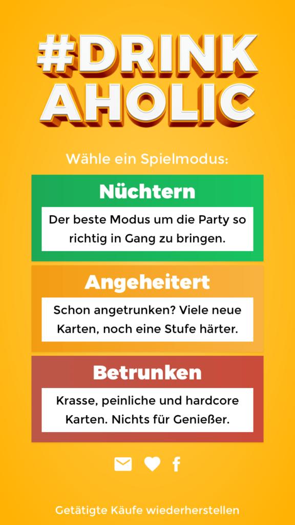Drinkaholic Trinkspiel App