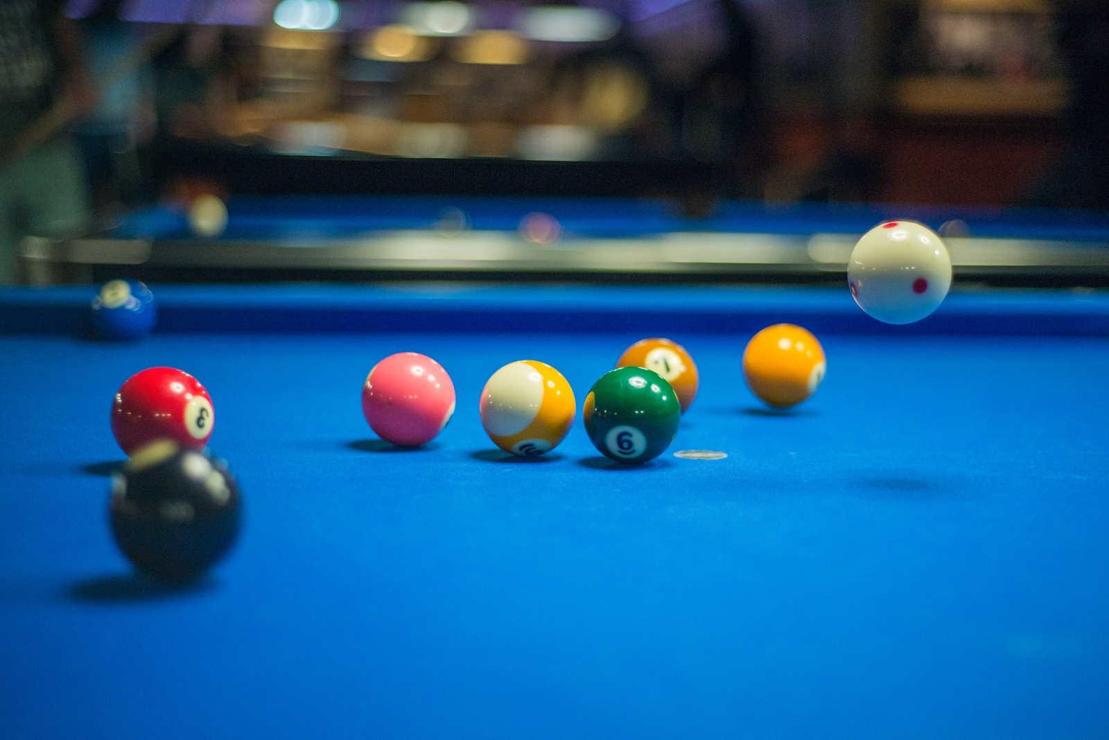 Griff beim Snooker