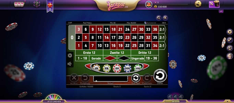 Jackpot Tischspiel