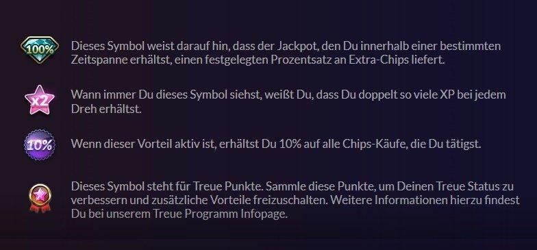 Jackpot.de Bonus Symbole