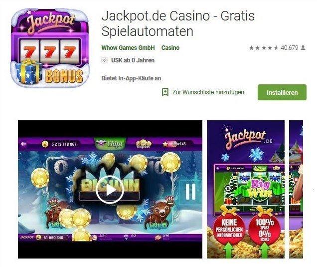 Jackpot.de Casino App