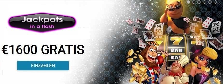 Jackpots in a flash willkommensbonus