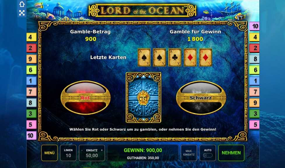 Lord of the ocean Gamble