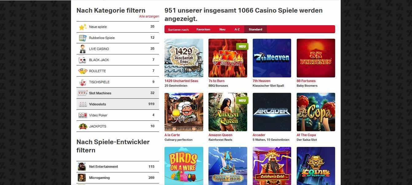 Mobilautomaten Casino Spiele