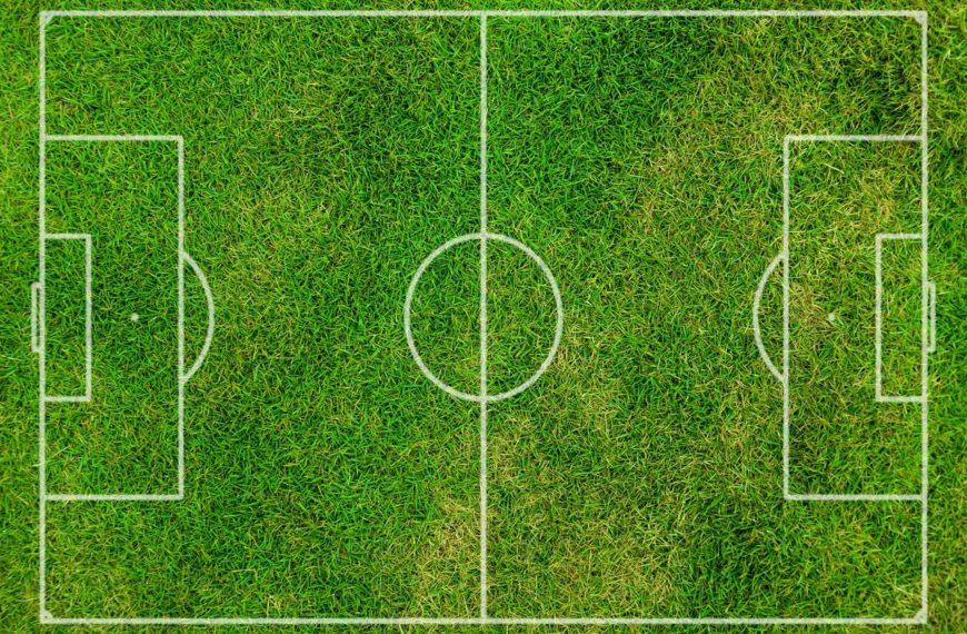 Spielfeld beim Fußball