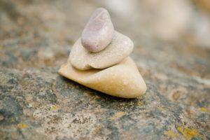 Steinchen will verstecken sich