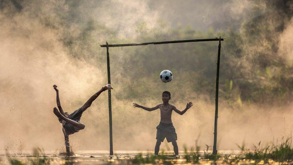 Zwillingsfußball