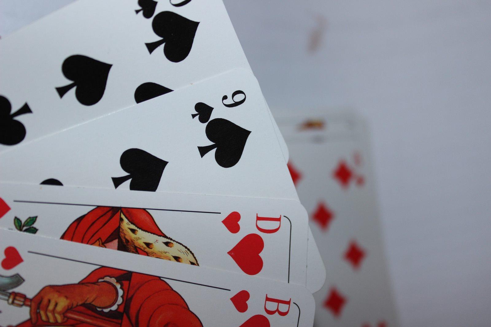 Karten rutschen