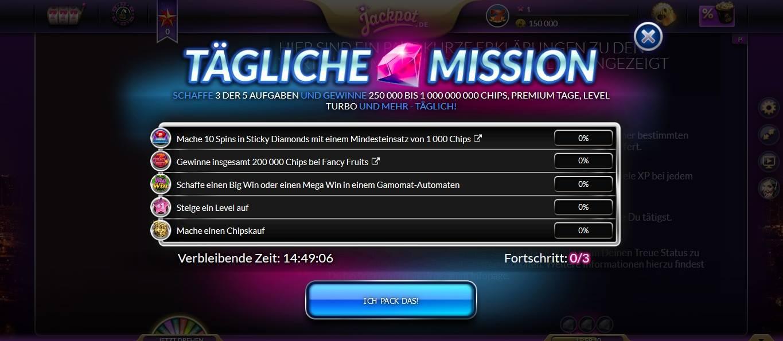 jackpot de Mission