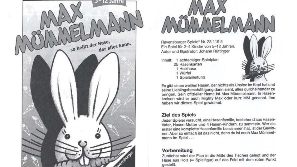 Max Mümmelmann Anleitung