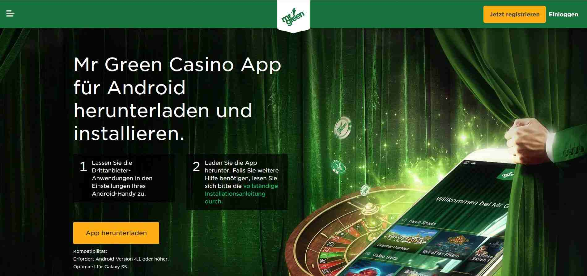 mr green android app