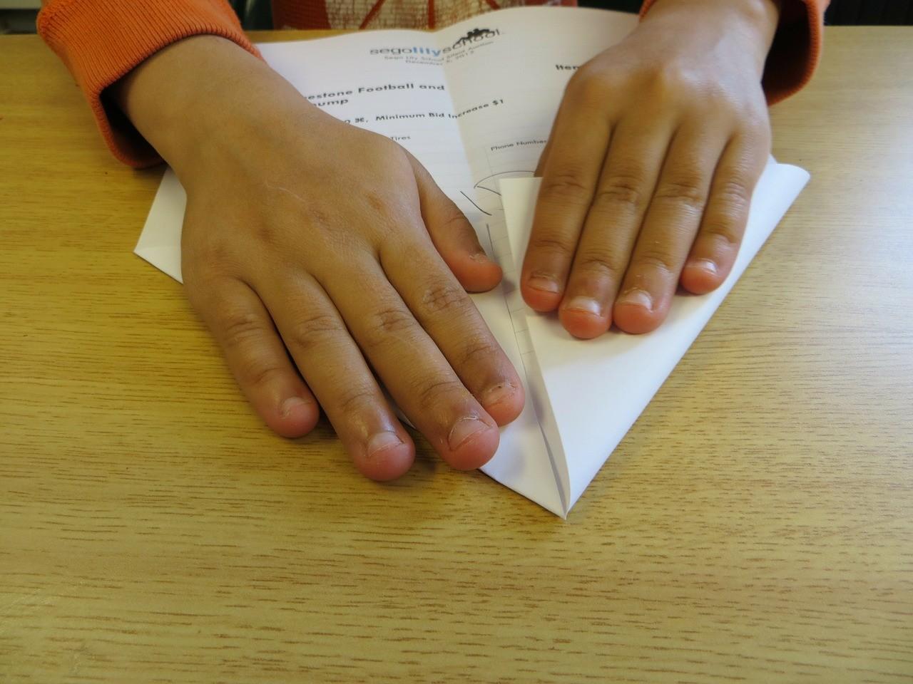 papierhut falten