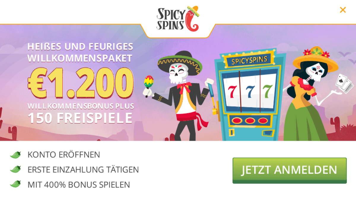 spicyspins willkommensbonus