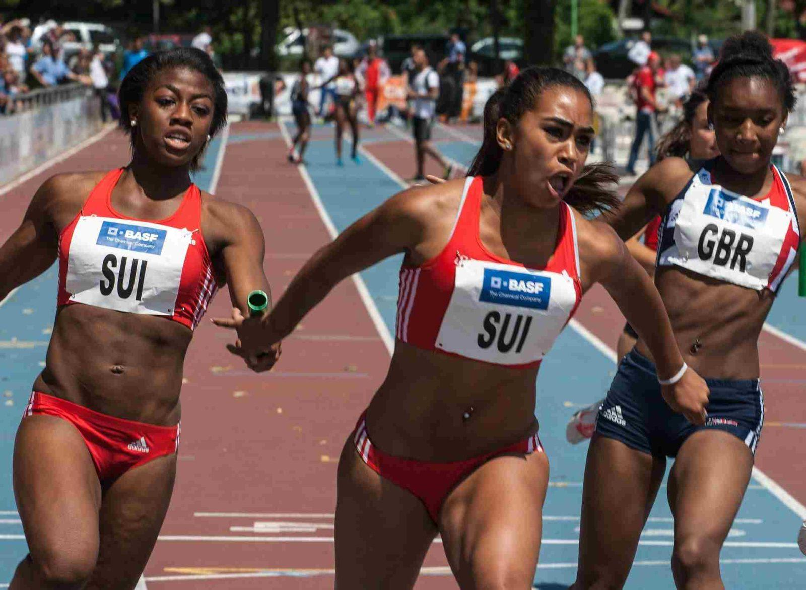 4 x 100m Staffellauf