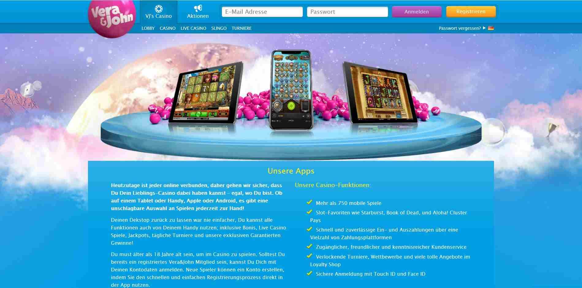 vera und john android casino apps