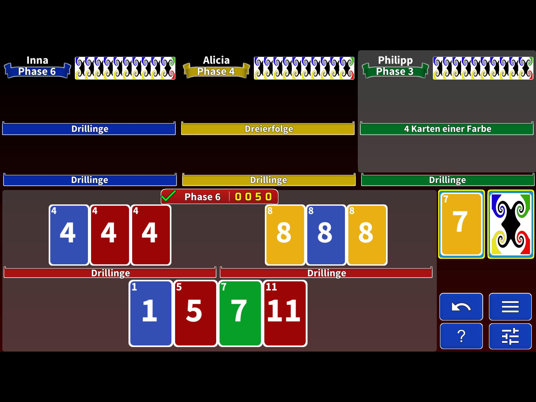 Phase Rummy 2 Spiel