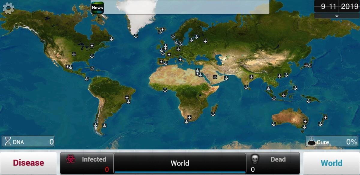 Plague Inc. Karte