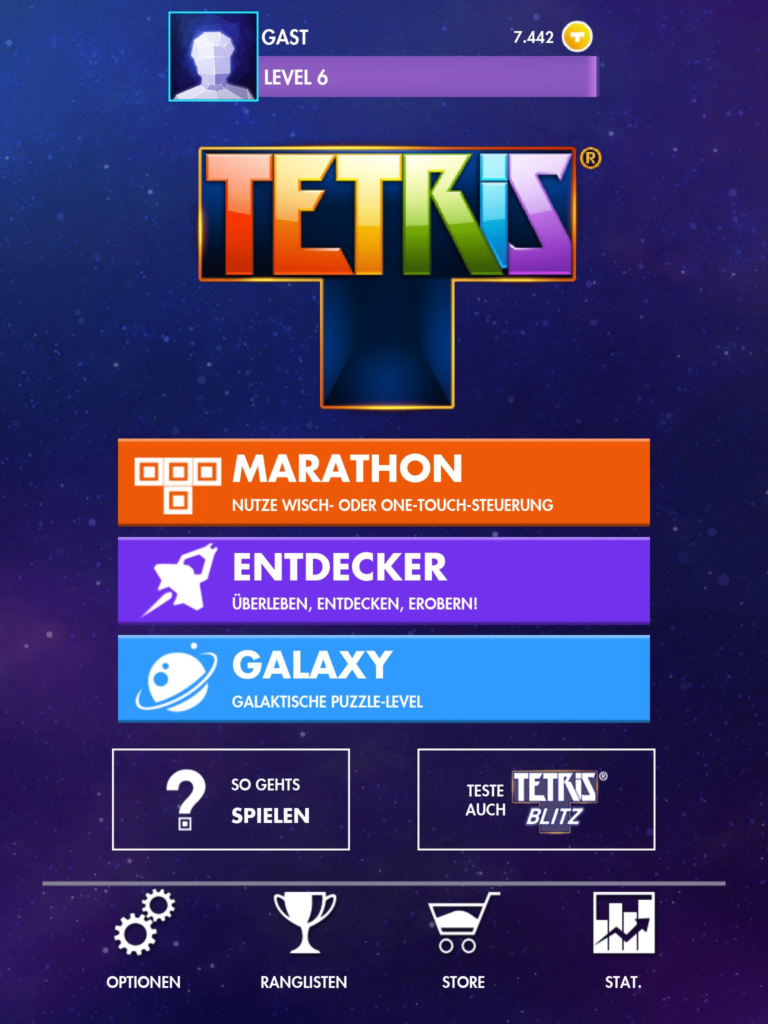 Tetris App Start