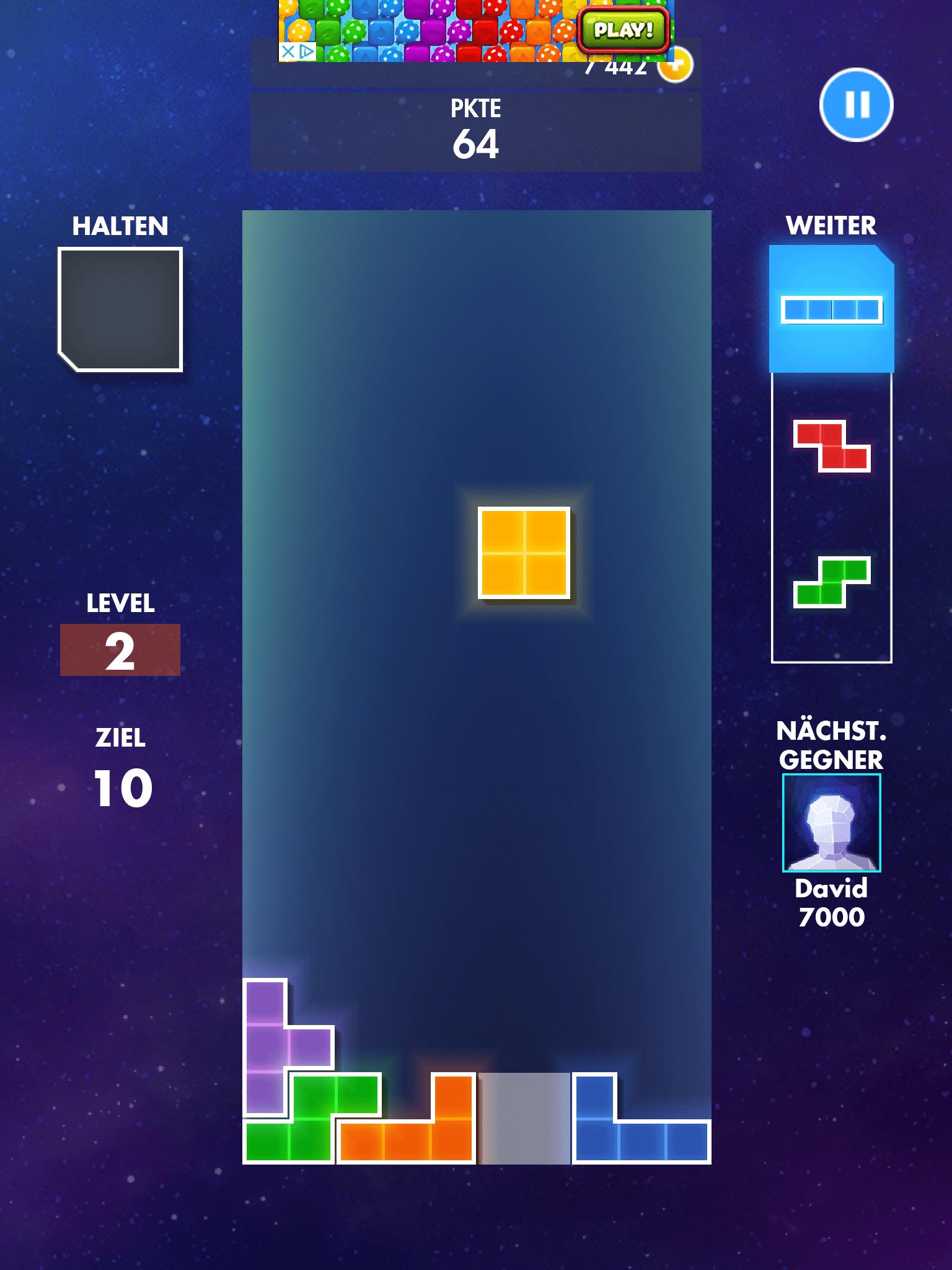 Tetris App spielen