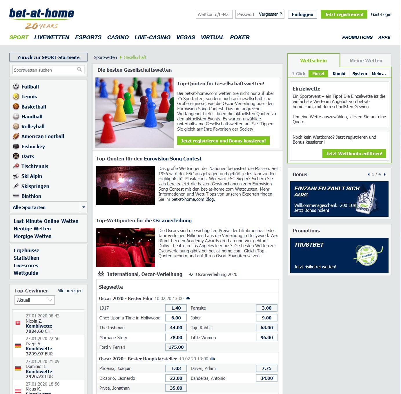 bet-at-home Gesellschaftswette