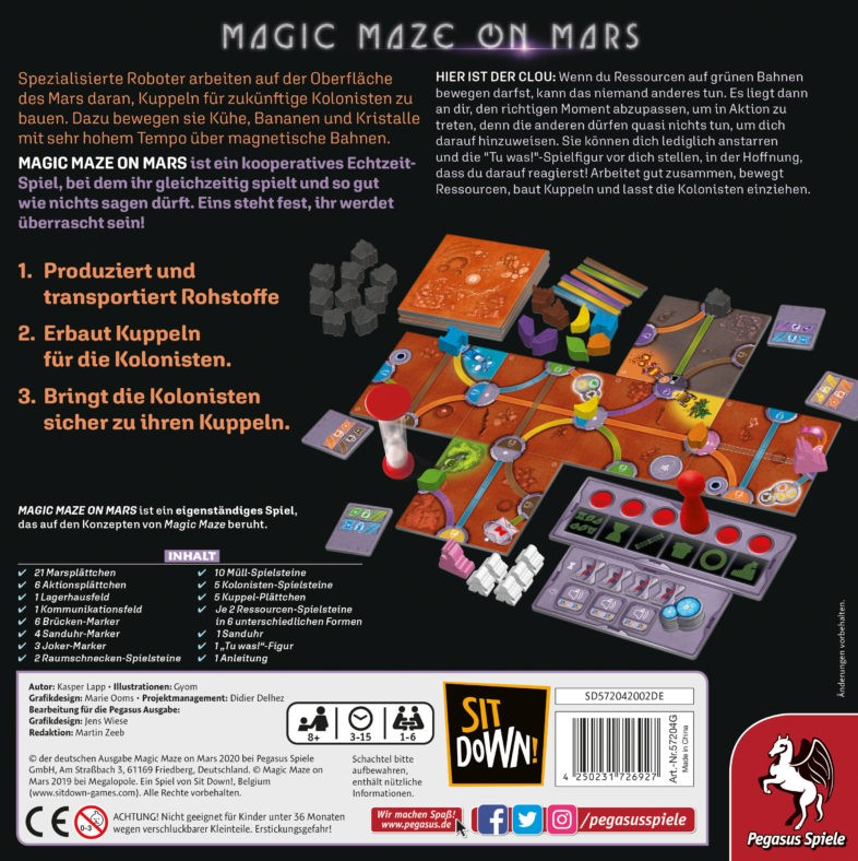 Magic Maze on Mars Zubehör