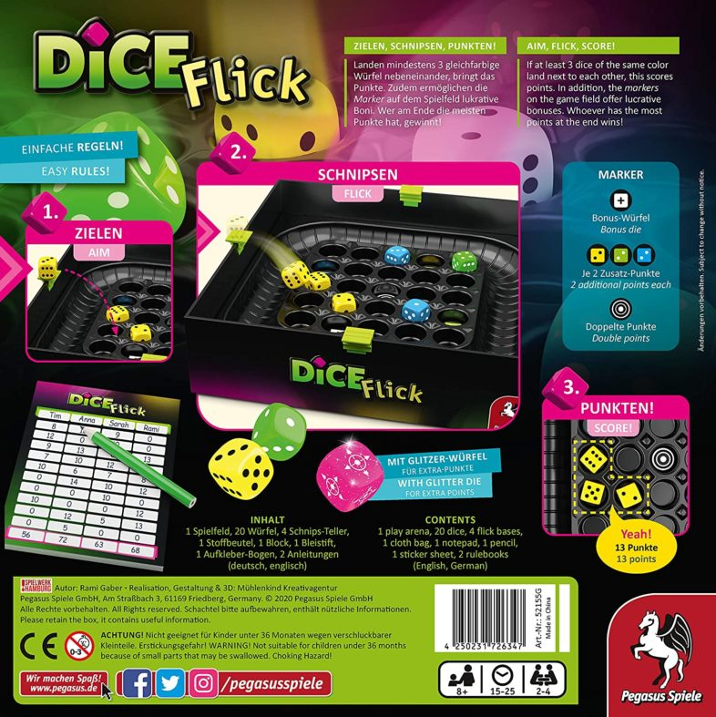 Dice Flick Zubehör